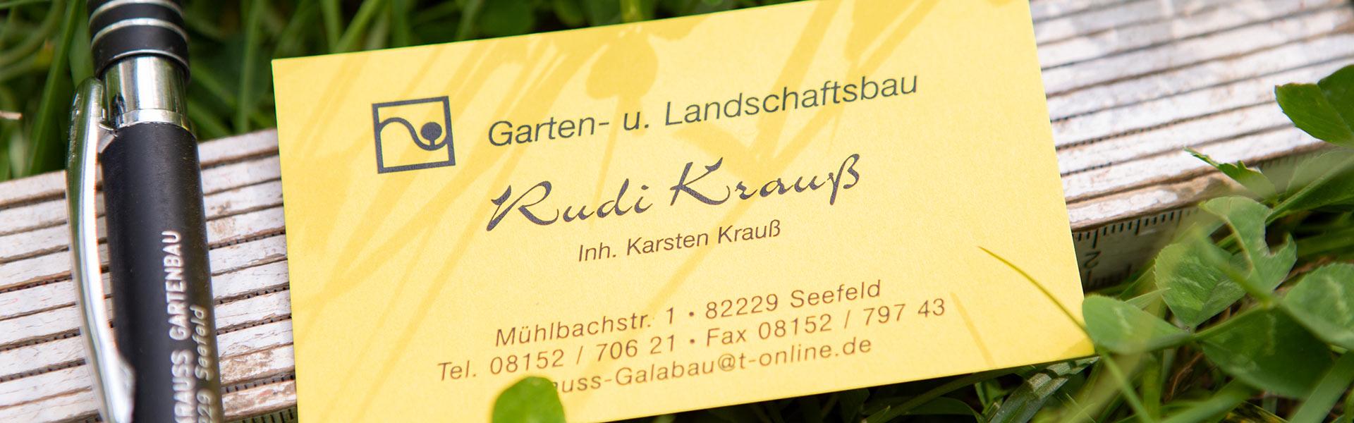 Kontakt zu Garten- und Landschaftsbau Krauß in Seefeld