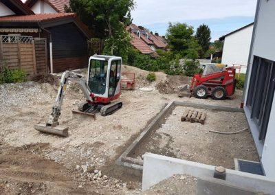 Baggerarbeiten in Seefeld